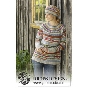 Winter Carnival by DROPS Design - Bluse Strikkeopskrift str. S - XXXL