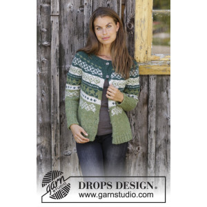 Bardu Jacket by DROPS Design - Jakke Strikkeopskrift str. S - XXXL