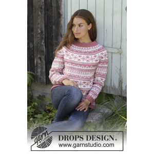 Selvik by DROPS Design - Bluse Strikkeopskrift str. S - XXXL