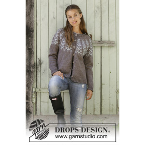 Inner Circle Jacket by DROPS Design - Jakke Strikkeopskrift str. S - XXXL