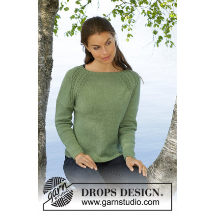 Image of   Green Wood by DROPS Design - Bluse Strikkeopskrift str. S - XXXL
