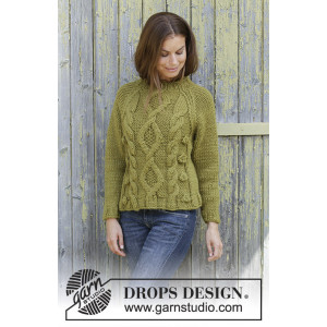 Green Tea by DROPS Design - Bluse Strikkeopskrift str. S - XXXL
