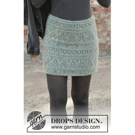 Mint Tulip by DROPS Design - Nederdel Strikkeopskrift str. S - XXXL thumbnail