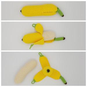 Karlas Banan af Rito Krea - Frugt Hækleopskrift 17cm
