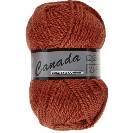 Lammy Canada Garn Unicolor 787 Mørk Orange thumbnail