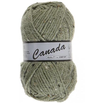 Image of   Lammy Canada Garn Mix 495 Lys Armygrøn/Natur/Brun