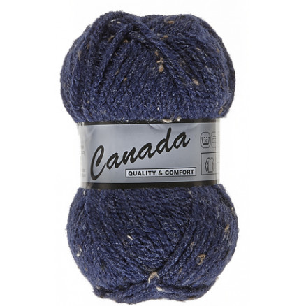 Image of   Lammy Canada Garn Mix 460 Mørkeblå/Brun/Sort