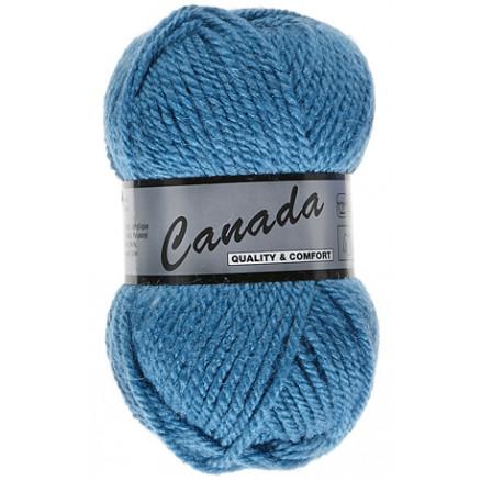 Image of   Lammy Canada Garn Unicolor 458 Blå