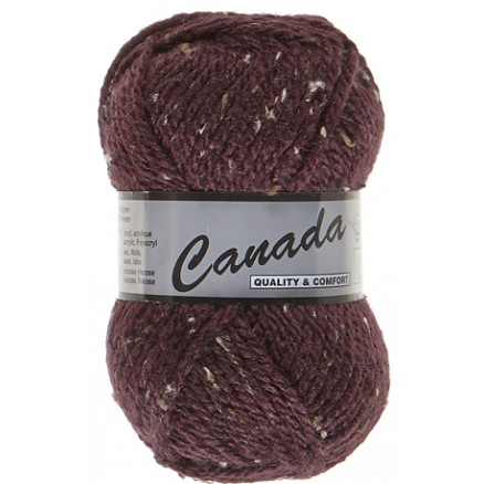 Image of   Lammy Canada Garn Mix 445 Bordeaux/Beige/Brun