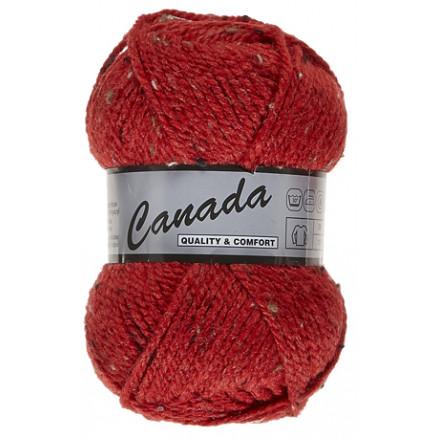 Image of   Lammy Canada Garn Mix 435 Rød/Beige/Brun