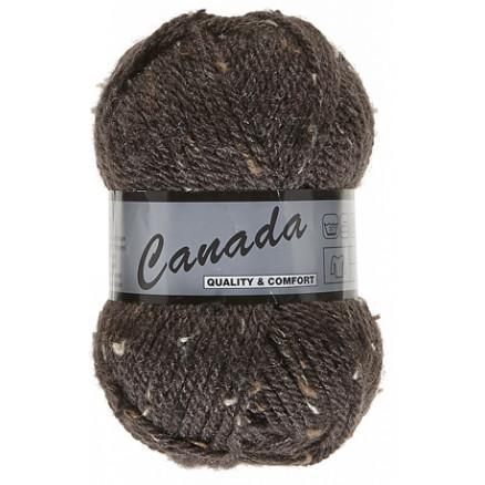 Image of   Lammy Canada Garn Mix 430 Mørkebrun/Beige/Brun