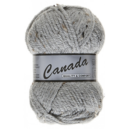 Image of   Lammy Canada Garn Mix 420 Grå/Sort/Brun