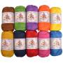 Mayflower Cotton 8/4 Junior Regnbue Garnpakke Ass. farver - 10 nøgler