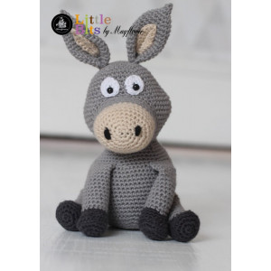Mayflower Little Bits Æslet Donkey - Bamse Hækleopskrift