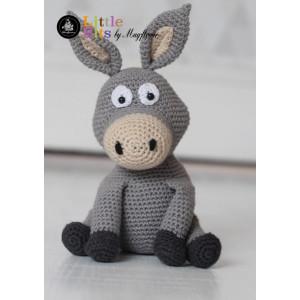 Mayflower Little Bits Æslet Donkey - Bamse Hækleopskrift