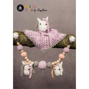 Mayflower Little Bits Babysæt med Heste - Nusseklud og Barnevognskæde Hækleopskrift