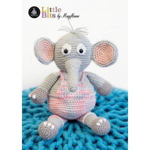 Mayflower Little Bits Elefanten Elton - Bamse Hækleopskrift