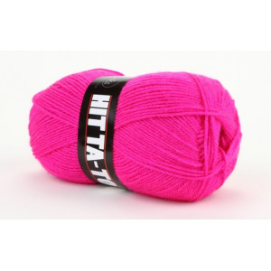 Mayflower Hit Ta-Too Garn Unicolor 93 Neon Pink
