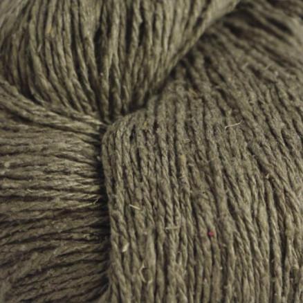 Image of   BC Garn Soft Silk Unicolor 027 Støvet Grønbrun