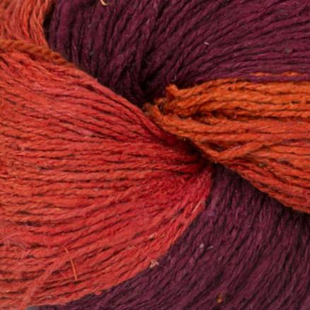 Image of   BC Garn Soft Silk Håndfarvet 150 Rød/Lilla