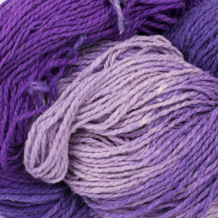 Bc Garn Soft Silk Håndfarvet 155 Lyselilla/mørkelilla