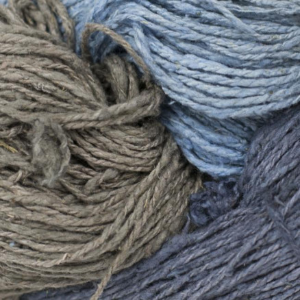 Image of   BC Garn Soft Silk Håndfarvet 157 Grå/Blå