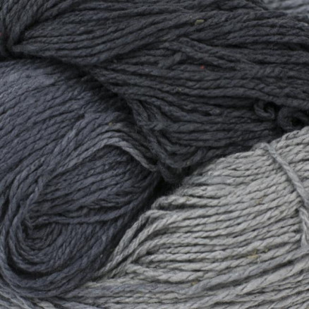 Bc Garn Soft Silk Håndfarvet 158 Lysegrå/mørkegrå