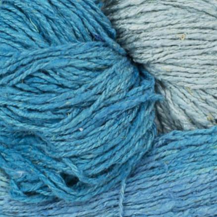 Image of   BC Garn Soft Silk Håndfarvet 159 Aqua/Blå