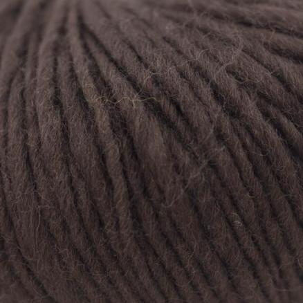 Bc Garn Semilla Flamé Unicolor 113 Mørkebrun