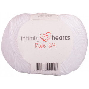 Infinity Hearts Rose 8/4 Garn Unicolor 02 Hvid