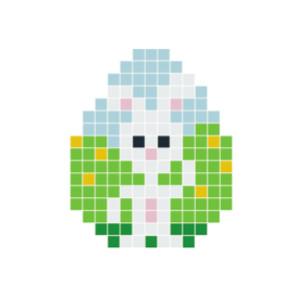 Påskehare hvid Pixelhobby - Påske Perlemønster
