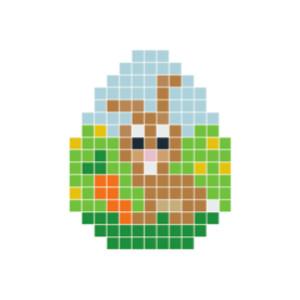 Påskehare Brun Pixelhobby - Påske Perlemønster