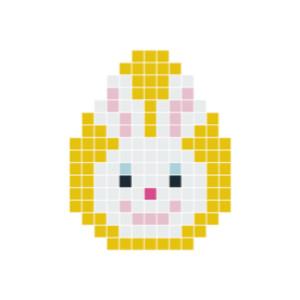 Påskehare Hoved Pixelhobby - Påske Perlemønster