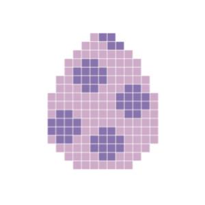 Påskeæg Lilla Pixelhobby - Påske Perlemønster