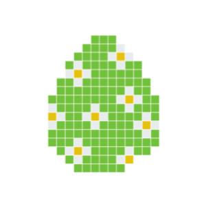 Påskeæg Grøn Pixelhobby - Påske Perlemønster