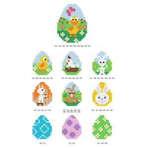 Påskemønstre Pixelhobby - Påske Perlemønster - 10 stk