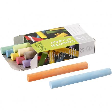 Tavlekridt, L: 8 cm, diam. 10 mm, ass. farver, 10x10stk. thumbnail