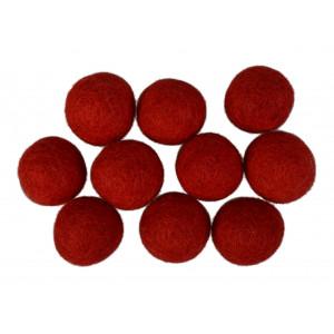 Diverse – Filtkugler 20mm rød r1 - 10 stk på rito.dk
