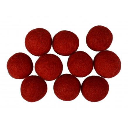 Filtkugler 20mm Rød R1 - 10 stk thumbnail