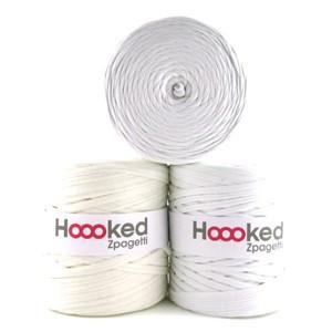 Hoooked Zpagetti Garn Unicolor 2 Hvide Nuancer 1 stk.