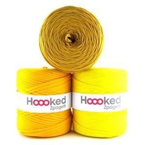 Hoooked Zpagetti Garn Unicolor 13 Gule Nuancer 1 stk.