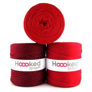 Hoooked Zpagetti Garn Unicolor 7 Røde Nuancer 1 stk.