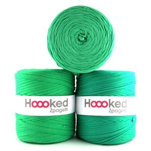 Hoooked Zpagetti Garn Unicolor 11 Grønne Nuancer 1 stk.
