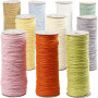 Papirgarn , tykkelse 1,8 mm, L: 470 m, pastel farver, tynd, 10x250g