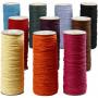Papirgarn, tykkelse 1,8 mm, L: 470 m, stærke farver, 10x250g