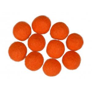 Filtkugler 20mm orange r7 - 10 stk fra Diverse fra rito.dk