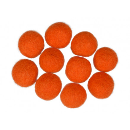 Filtkugler 20mm Orange R7 - 10 stk thumbnail