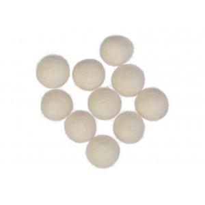 Filtkugler 20mm Natur Hvid W1 - 10 stk