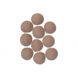 Filtkugler 20mm Sandfarve W2 - 10 stk