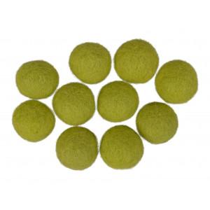 Filtkugler 20mm lysegrøn gn3 - 10 stk fra Diverse fra rito.dk